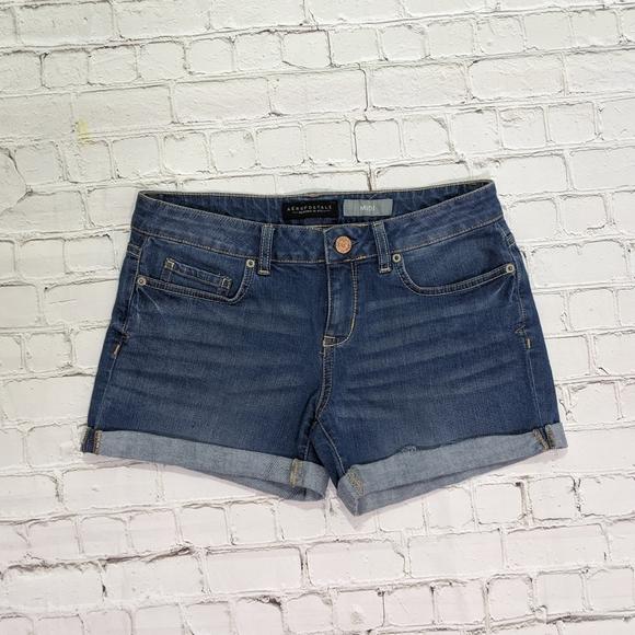 Aeropostale Pants - Aeropostale Midi Blue Jean Shorts